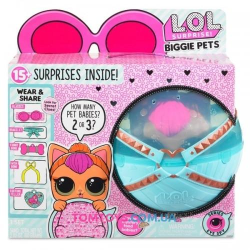 Кукла ЛОЛ Большой Питомец Кошка 4 серия Декодер LOL Biggie Pets Neon Kitty