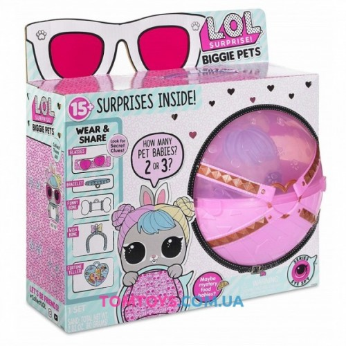 Кукла ЛОЛ Большой Питомец Зайка 4 серия Декодер LOL Biggie Pets Hop Hop