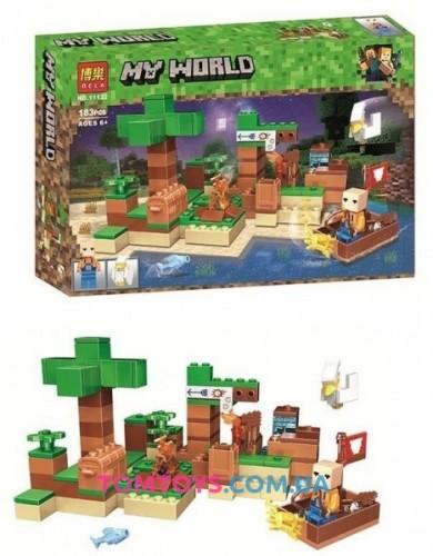 Конструктор Bela Майнкрафт аналог Lego Minecraft На рыбалке 11132