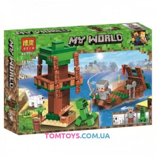 Конструктор Bela Майнкрафт Путешествие к острову сокровищ на корабле аналог Lego Minecraft 11131