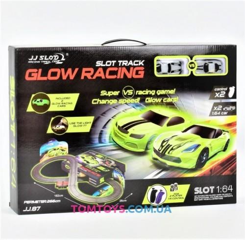 Автотрек Glow Racing JJ 87-2