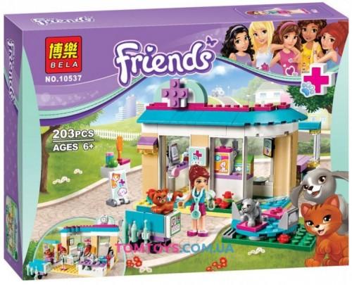 Конструктор Bela Friends аналог LEGO Friends 41085 Ветеринарная клиника 10537