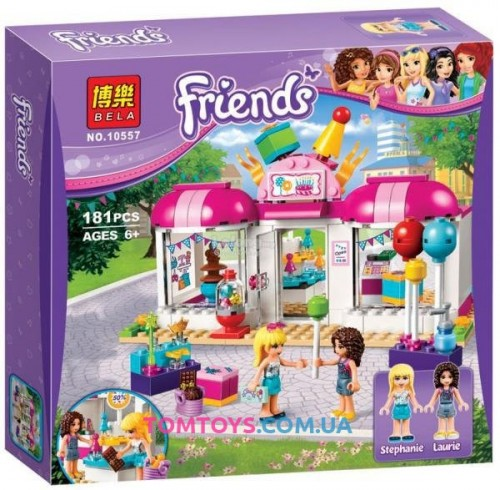 Конструктор Bela Friends аналог Lego Friends 41132 Подготовка к вечеринке 10557