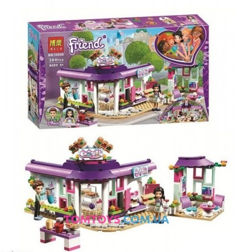 Конструктор Bela Friends аналог Lego Friends 41336 Арт кафе Эммы 10856