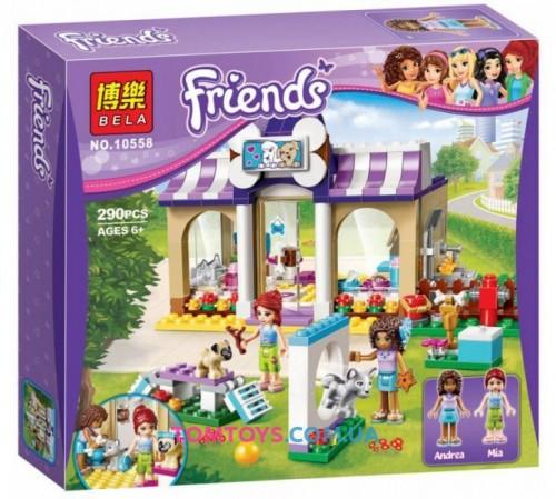 Конструктор Bela Friends аналог LEGO Friends 41124 Детский сад для щенков 10558