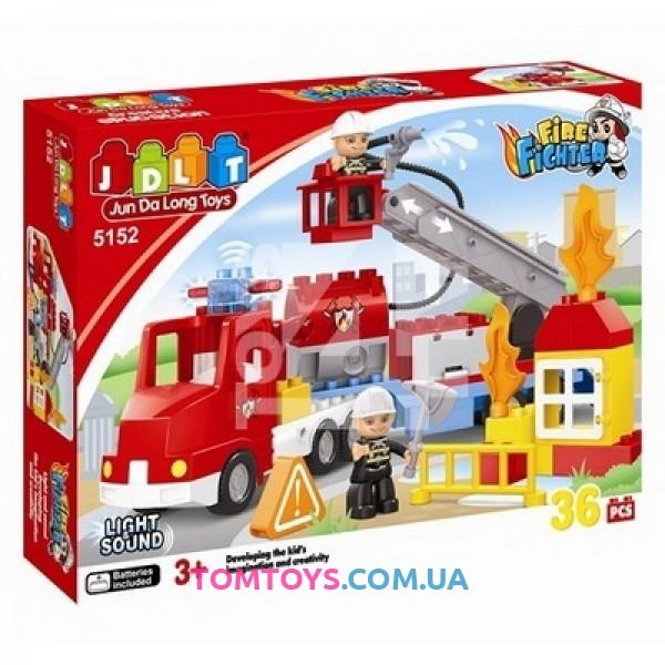 Конструктор JDLT Пожарная машина аналог Lego Duplo 5152