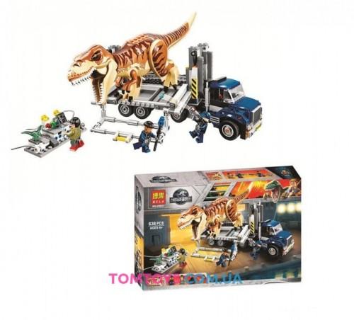 Конструктор Bela Транспорт для перевозки Ти-Рекса Аналог Lego Jurassic World 10927