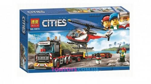 Конструктор Bela Перевозка тяжелых грузов аналог Lego City 10872