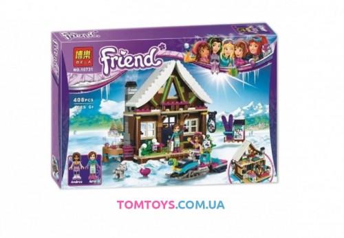 Конструктор Bela Friend Горнолыжный курорт. Шале аналог LEGO Friends 10731