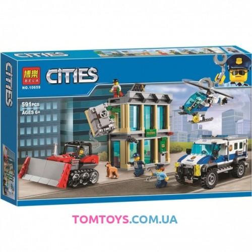 Конструктор Bela аналог Lego City 60140 Ограбление на бульдозере 10659
