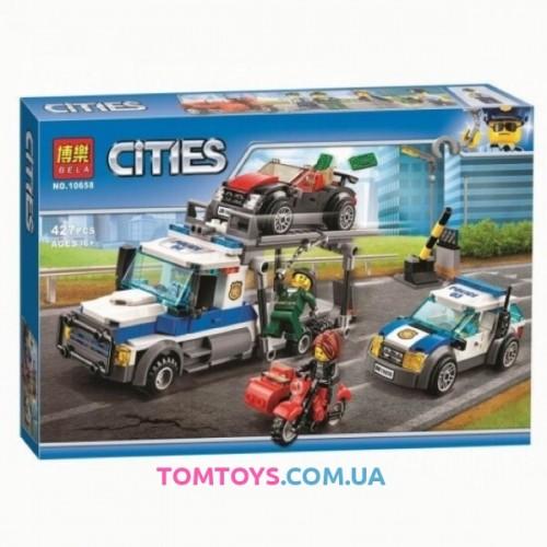 Конструктор Bela аналог Lego City 60143 Ограбления трейлера автовоза 10658