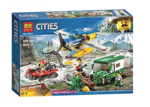 Конструктор Bela аналог Lego City 60175 Ограбление у горной речки 10864