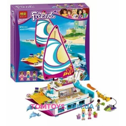 Конструктор Bela Friends аналог LEGO Friends 41317 Катамаран Саншайн 10760