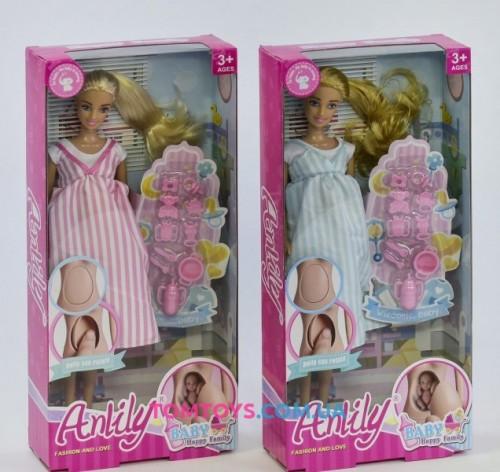 Кукла Anlily беременная с аксессуарами 99202