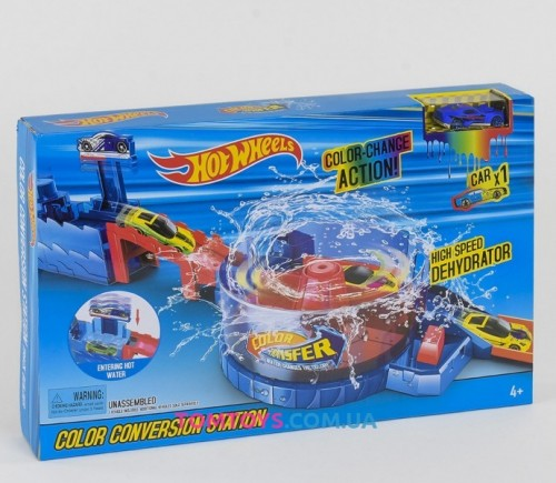 Трек аналог Hot Wheels машинки меняют цвет 3098