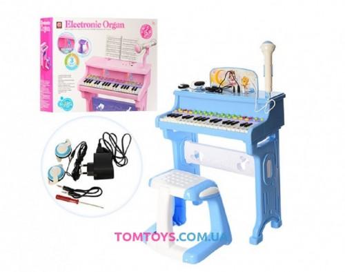 Детский синтезатор с микрофоном и стульчиком CV8818-206AB