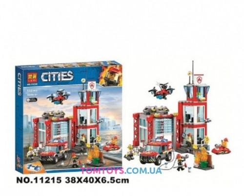 Конструктор Lari Пожарное депо аналог Lego City 11215