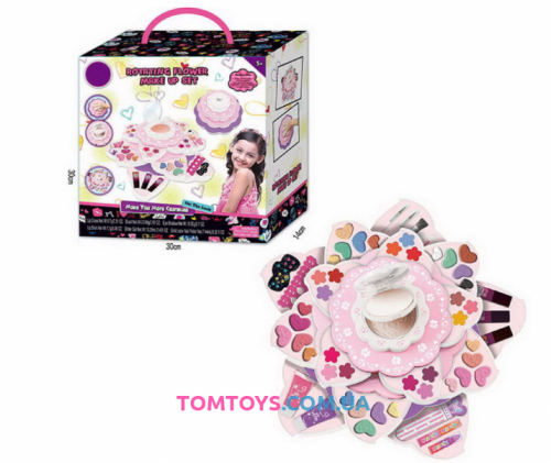 Детская Косметика Вращающийся Цветок макияжный набор  S 22033