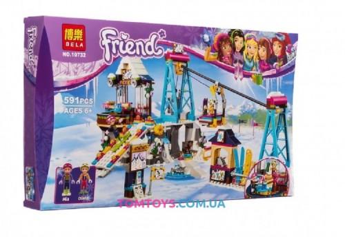 Конструктор Bela Friends Горнолыжный курорт: подъемник аналог LEGO Friends 10732