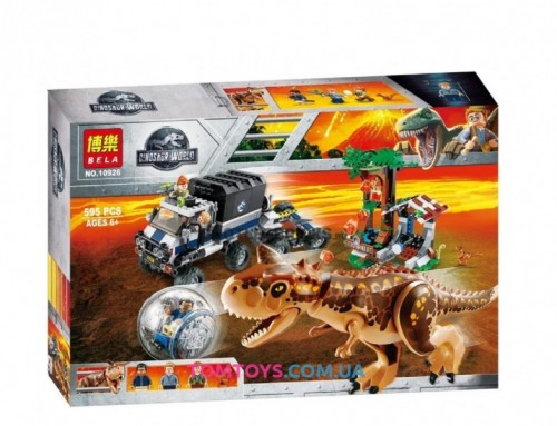 Конструктор Bela  Dinosaur World Побег на гиросфере от Карнотавра  10926