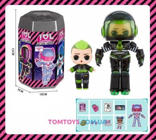Игровой набор кукла аналог LOL Surprise Arcade Heroes TB 005