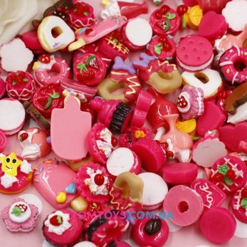 Шармики для украшения слайма красные Пирожиные