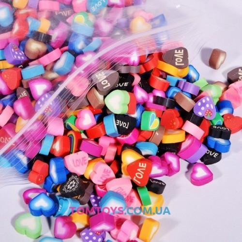 Шармики для украшения слайма Сердечки