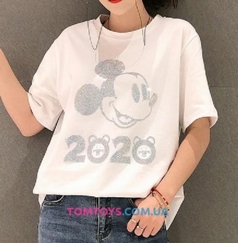 Футболка Микки Маус 2020 (Mickey Mouse 2020) с камушками.