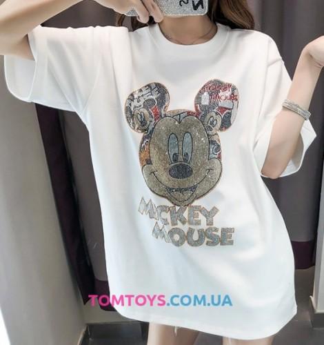 Футболка Микки Маус (Mickey Mouse) с камушками