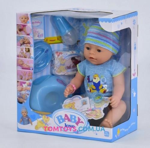 Кукла пупс интерактивный аналог Baby Born BL 033 А
