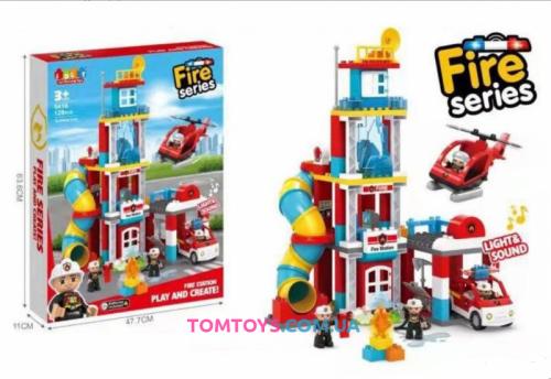 Конструктор JDLT Пожарный участок аналог Lego Duplo 5416