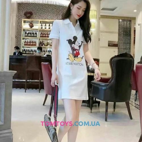 Платье Louis Vuitton & Mickey Polo Dress