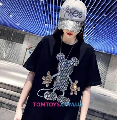 Футболка Микки Маус (Mickey Mouse) с камушками.