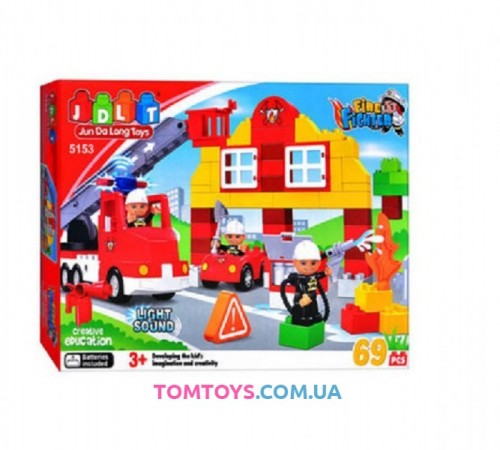 Конструктор JDLT Пожарная станция аналог Lego Duplo 5153