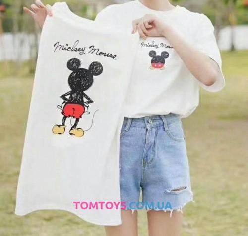 Футболка белая с принтом Mickey Mouse.