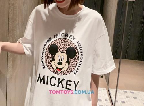 Футболка белая с принтом Mickey.