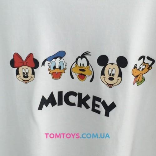 Футболка белая с принтом Micky & Friends.