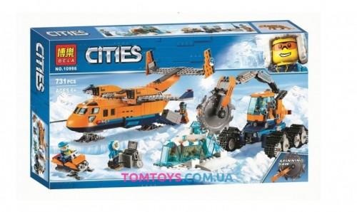 Конструктор Bela Арктический грузовой самолет аналог Lego City  10996