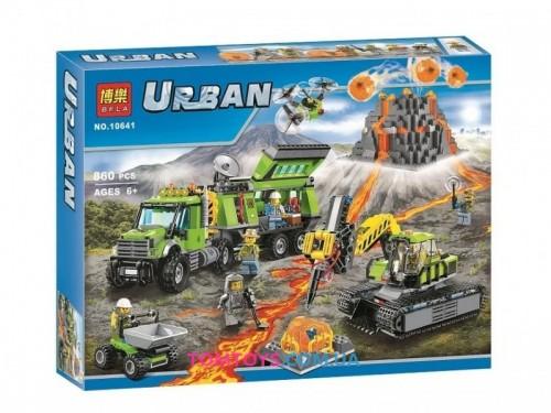 Конструктор Bela База исследователей вулканов аналог Lego City 10641