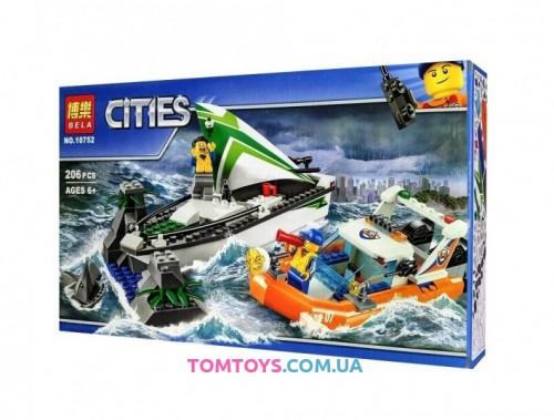 Конструктор Bela Операция по спасению лодки аналог Lego City 10752