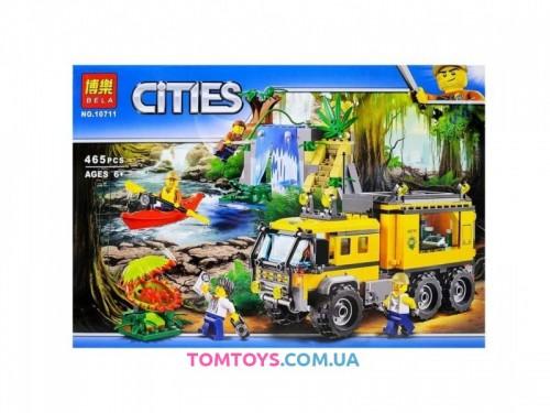 Конструктор Bela аналог Lego City 60160 Передвижная лаборатория в джунглях 10711