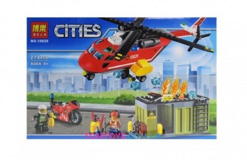 Конструктор Bela Пожарная команда быстрого реагирования аналог Lego City 10829