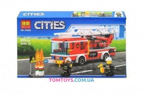 Конструктор Bela Пожарный грузовик с лестницей аналог Lego City 10828
