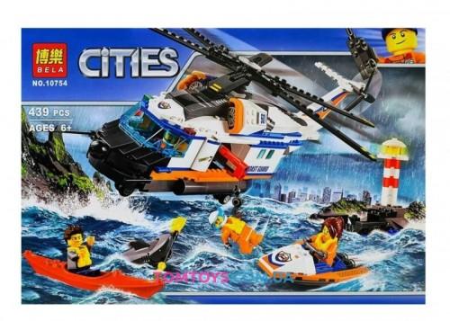 Конструктор Bela Сверхмощный спасательный вертолет аналог Lego City 10754