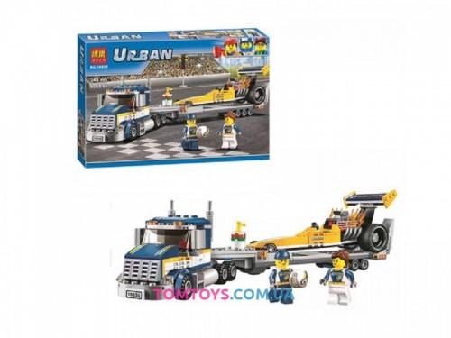 Конструктор Bela Грузовик для перевозки драгстера аналог Lego City 10650