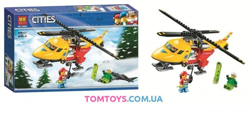 Конструктор Bela Вертолет скорой помощи аналог Lego City 10868