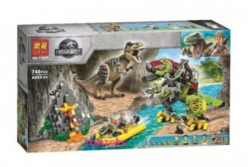 Конструктор Bela Бой тираннозавра и робота-динозавра Аналог Lego Jurassic World 11337