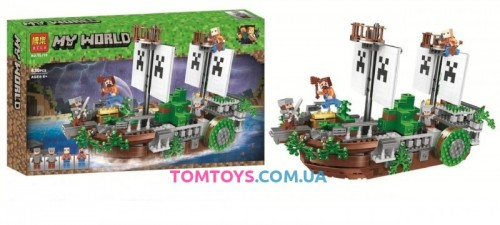 Конструктор Lari Майнкрафт Битва на реке аналог Lego Minecraft 11139