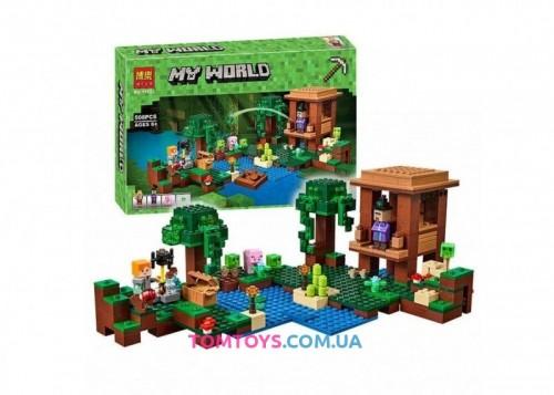Конструктор Lari Майнкрафт Хижина ведьмы аналог Lego Minecraft  10622
