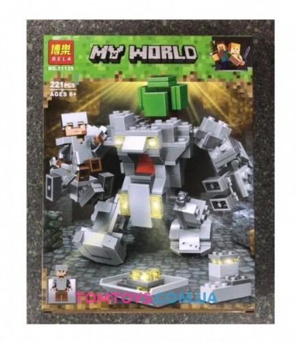 Конструктор Bela Майнкрафт Робот Титан аналог Lego Minecraft 11135